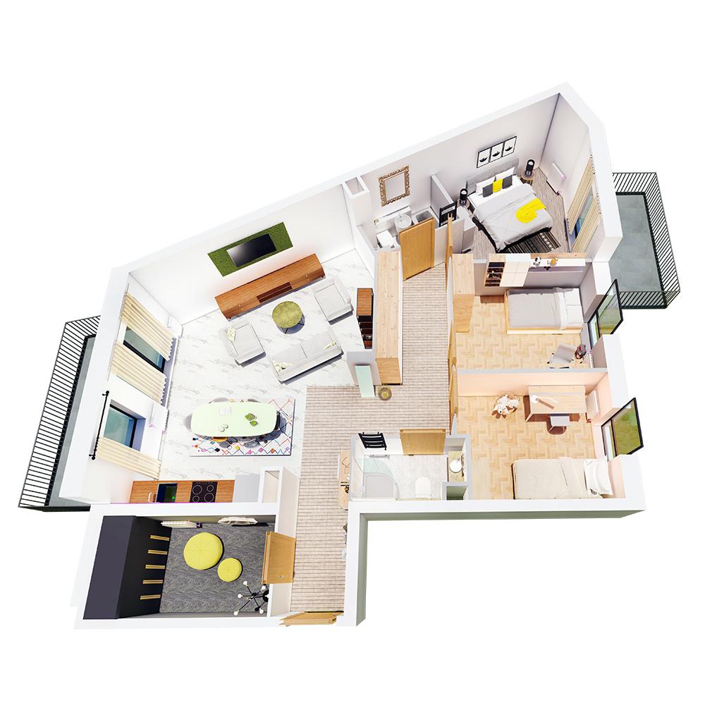 Mieszkanie 4-pokojowe R-A-46