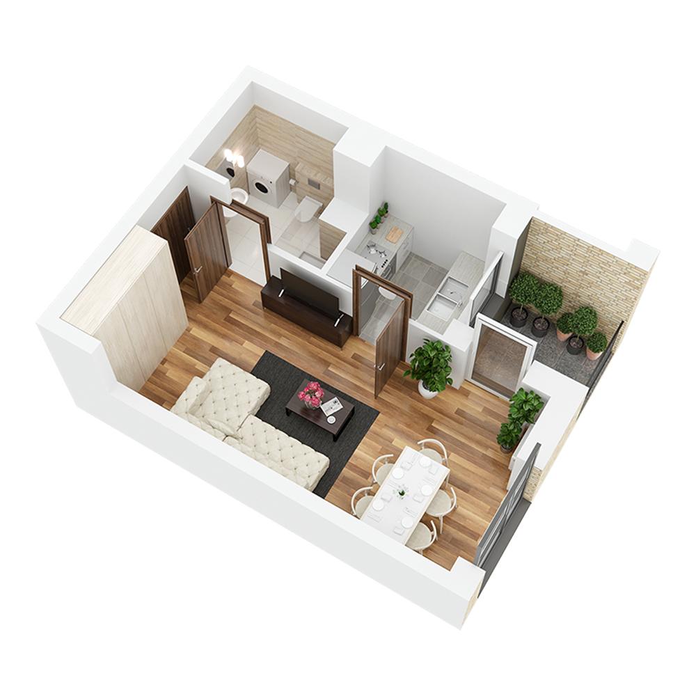 Mieszkanie 1-pokojowe PP-26-85