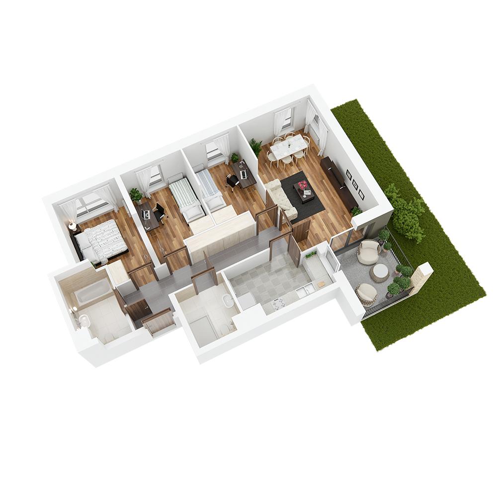 Mieszkanie 4-pokojowe PP-24-73