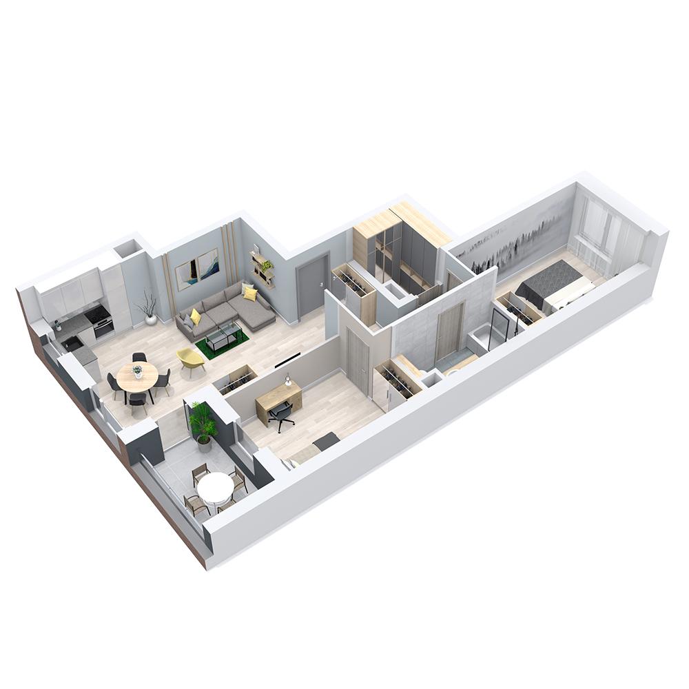 Mieszkanie 3-pokojowe PP-8C-76