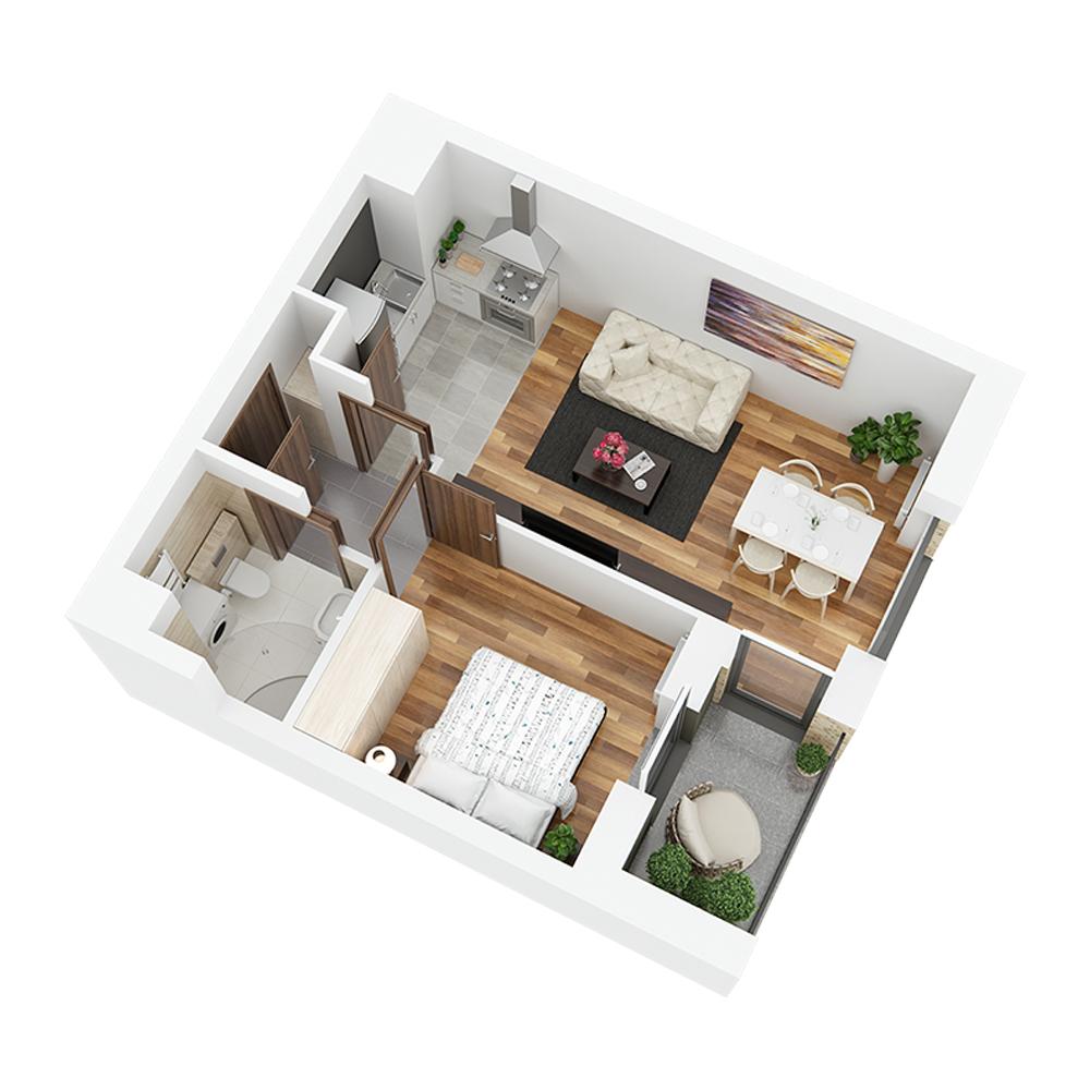 Mieszkanie 2-pokojowe PP-24-18