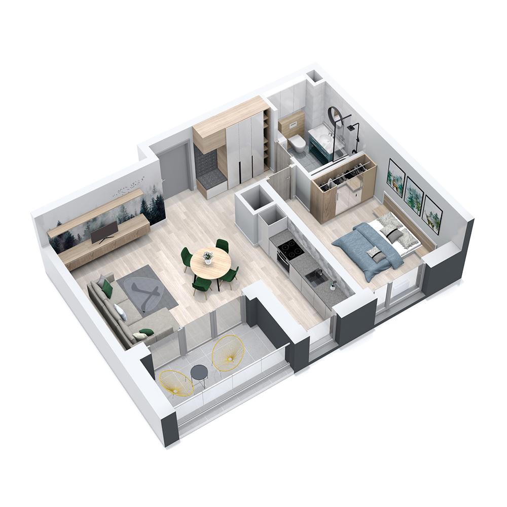 Mieszkanie 2-pokojowe PP-8C-14