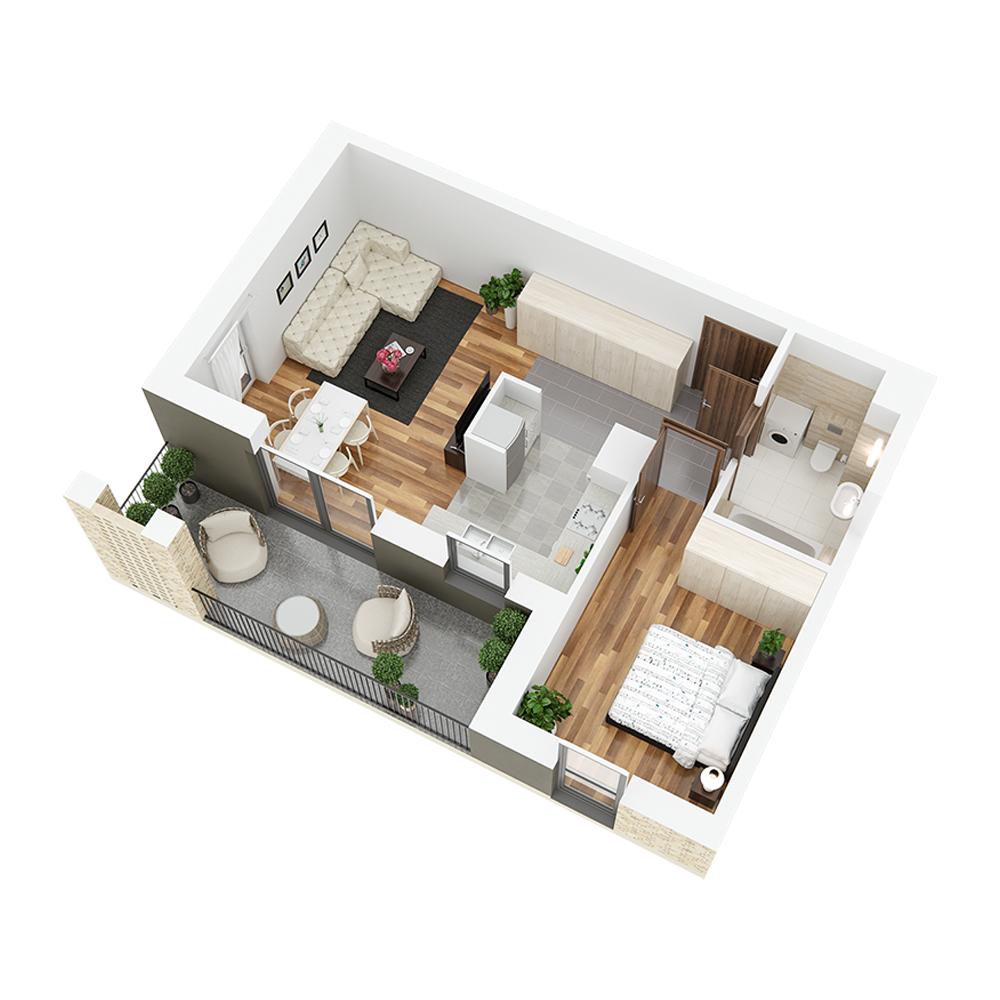 Mieszkanie 2-pokojowe PP-26-90