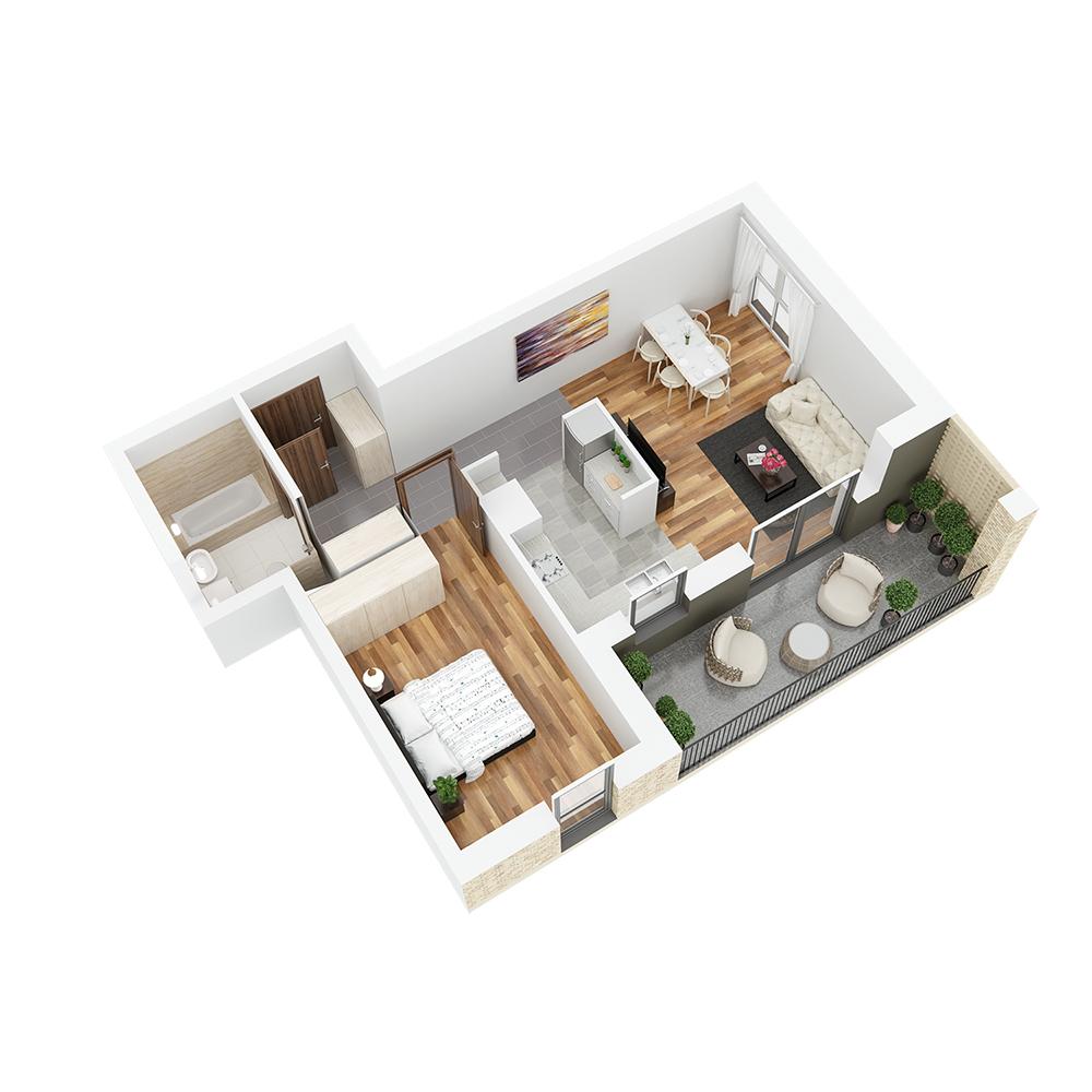 Mieszkanie 2-pokojowe PP-26-56