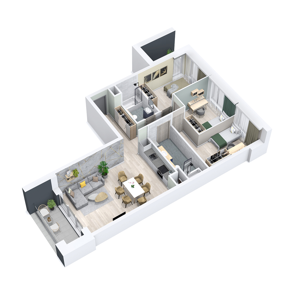 Mieszkanie 4-pokojowe PP-8C-10