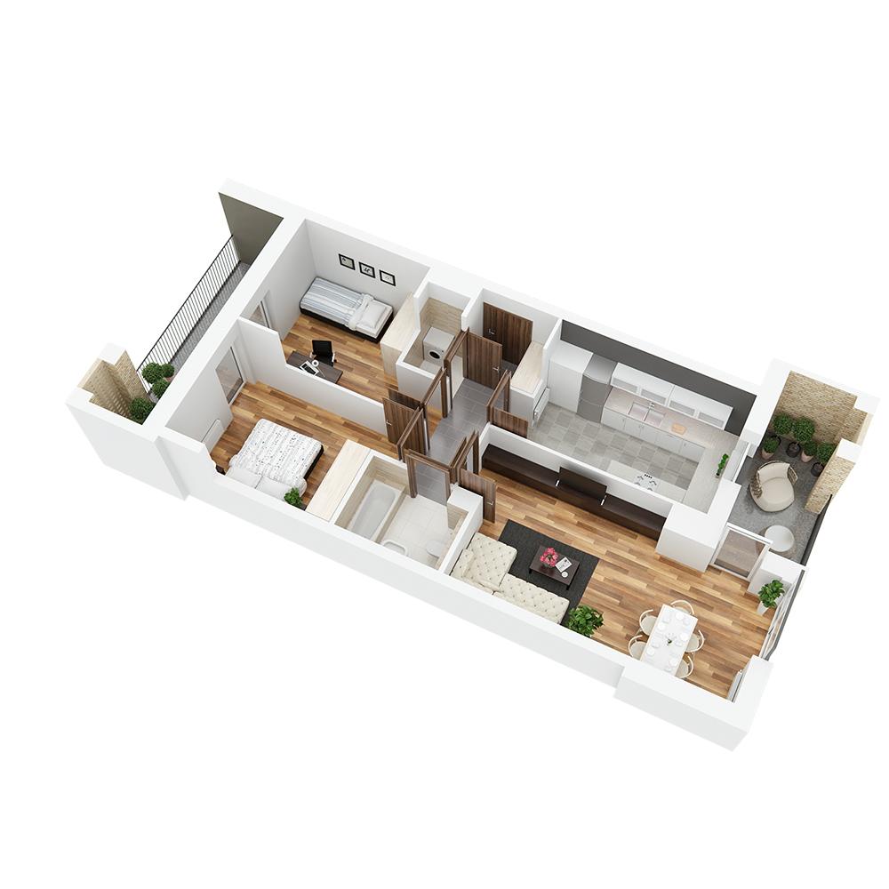 Mieszkanie 3-pokojowe PP-26-12