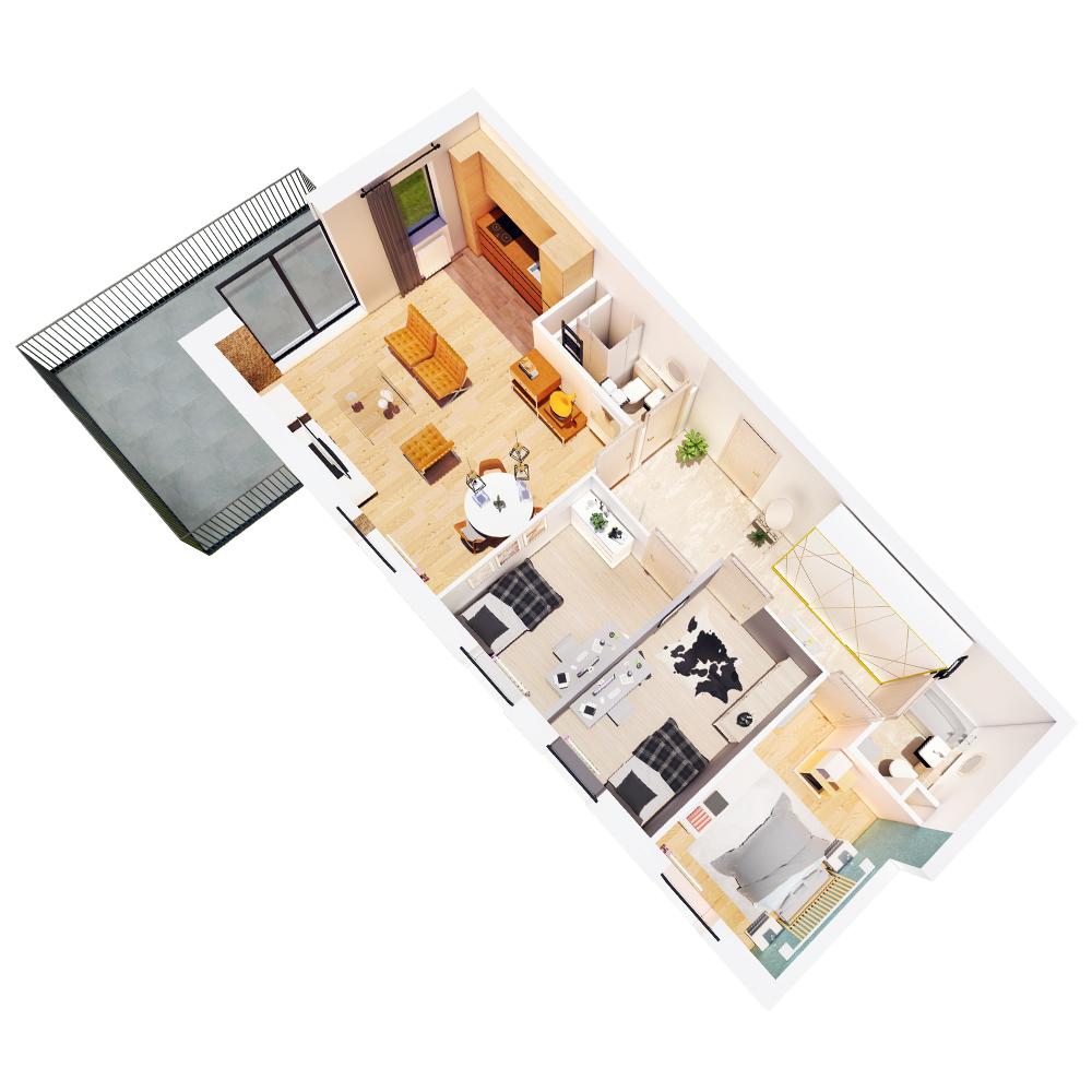 Mieszkanie 4-pokojowe R-A-47