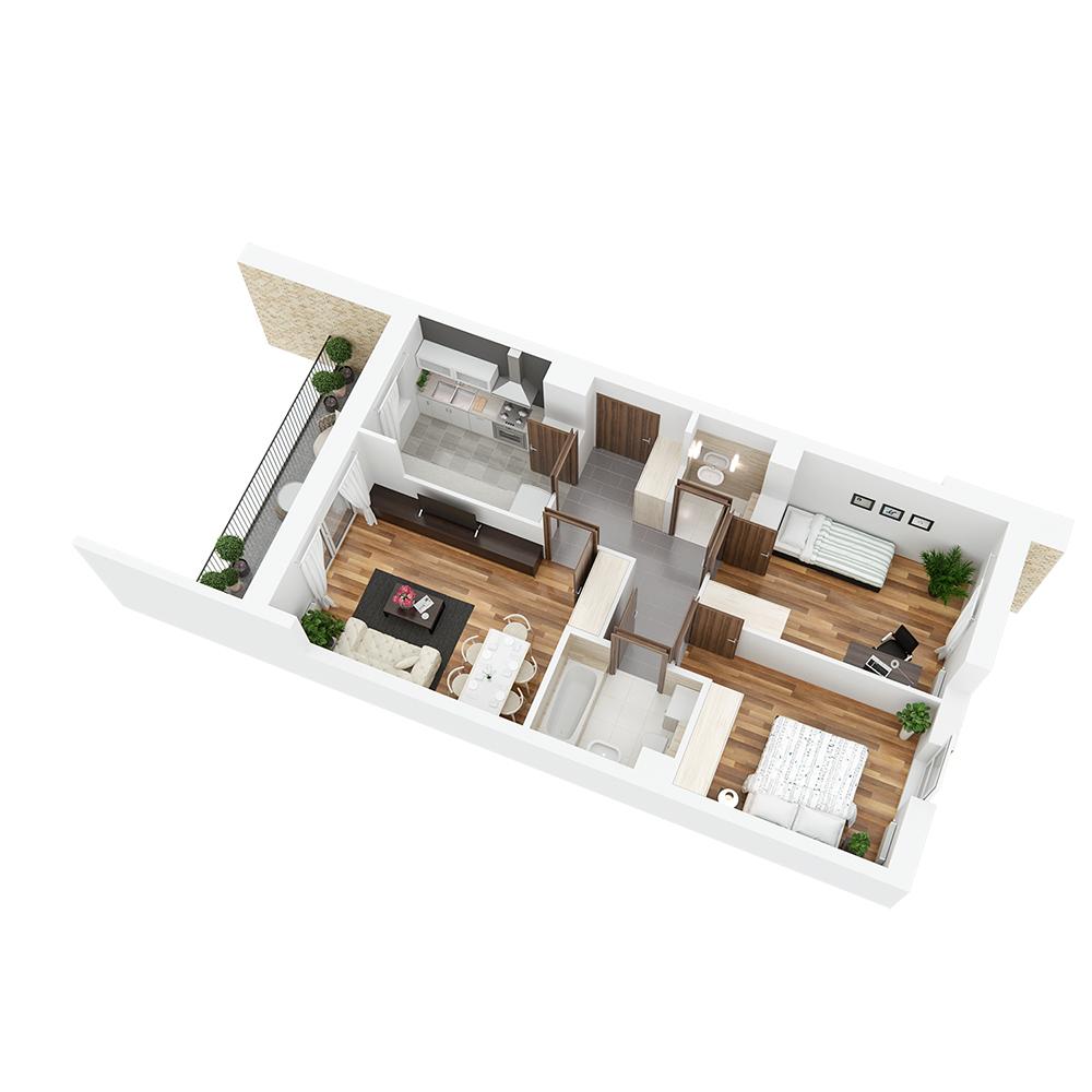 Mieszkanie 3-pokojowe PP-24-39