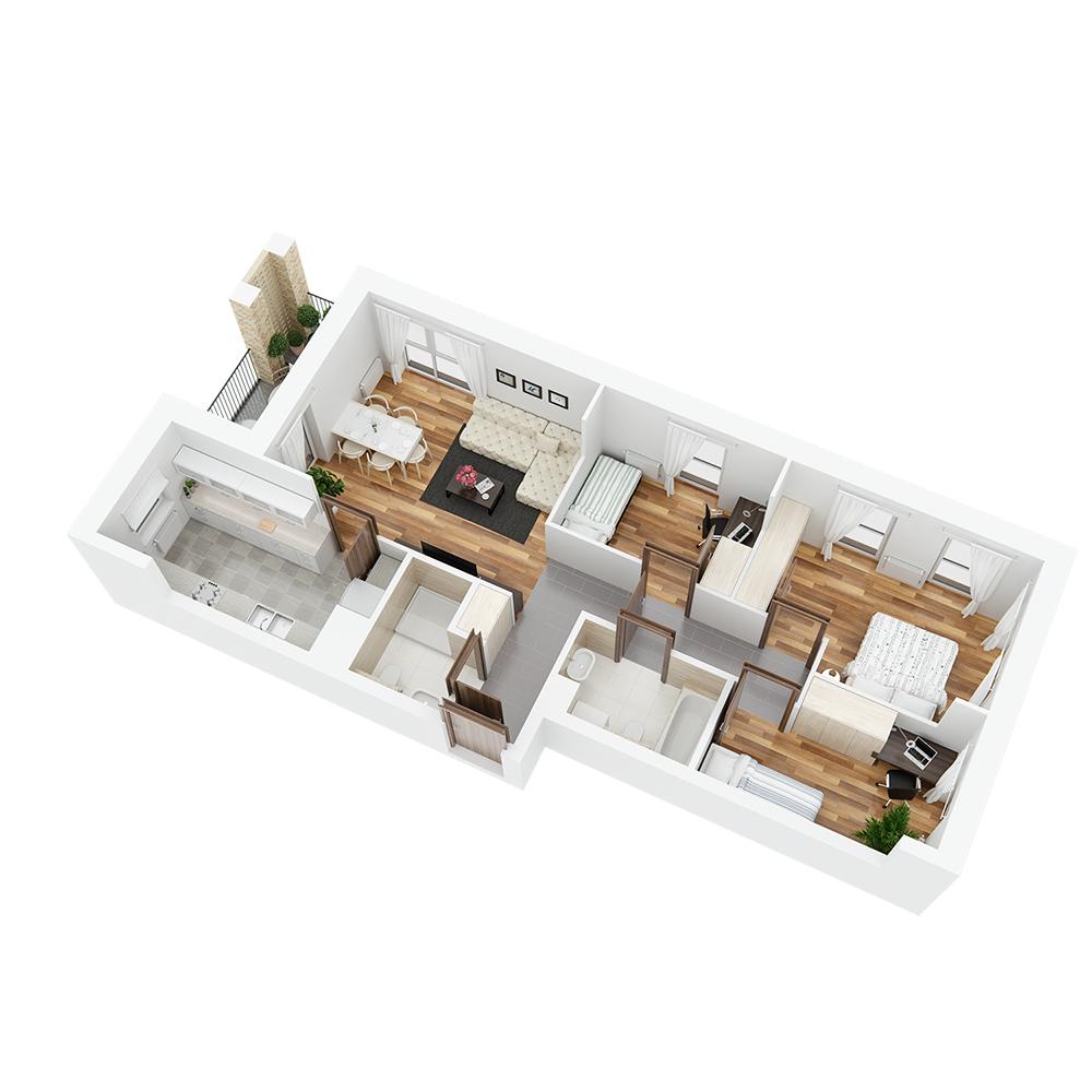 Mieszkanie 4-pokojowe PP-26-16