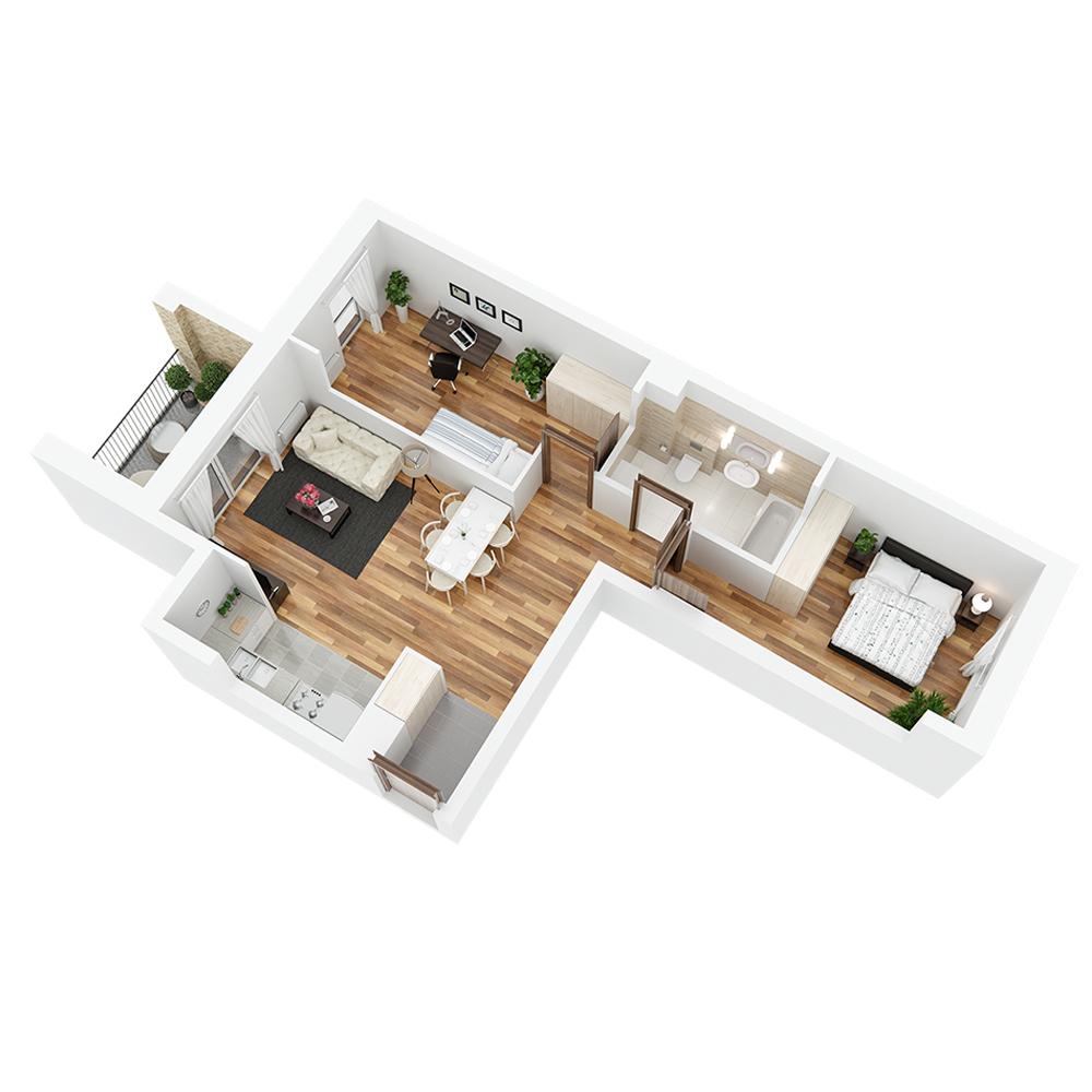 Mieszkanie 3-pokojowe PP-24-49