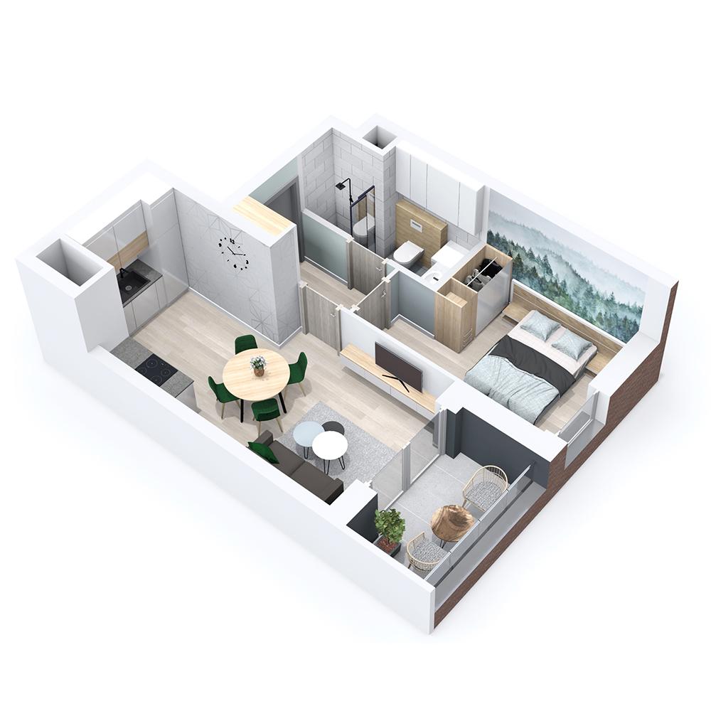 Mieszkanie 2-pokojowe PP-8B-39