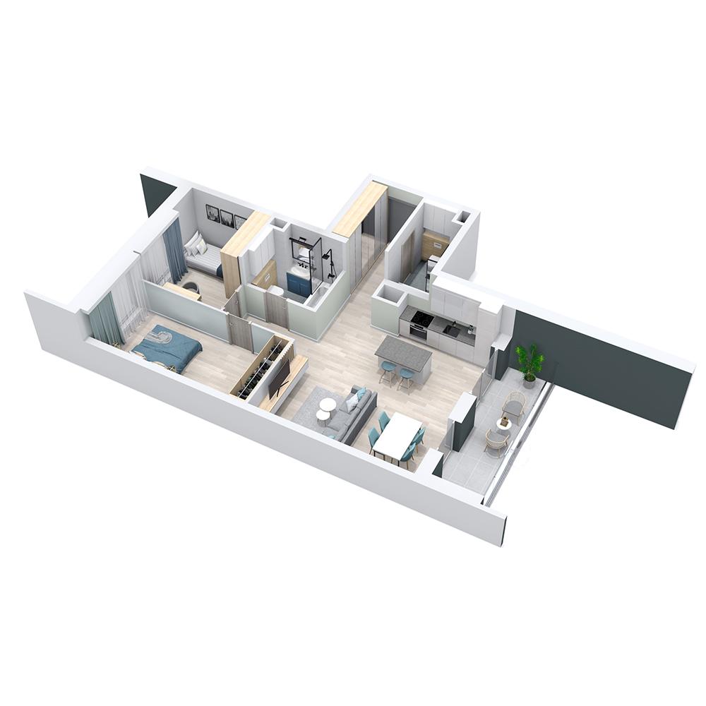 Mieszkanie 3-pokojowe PP-8C-35