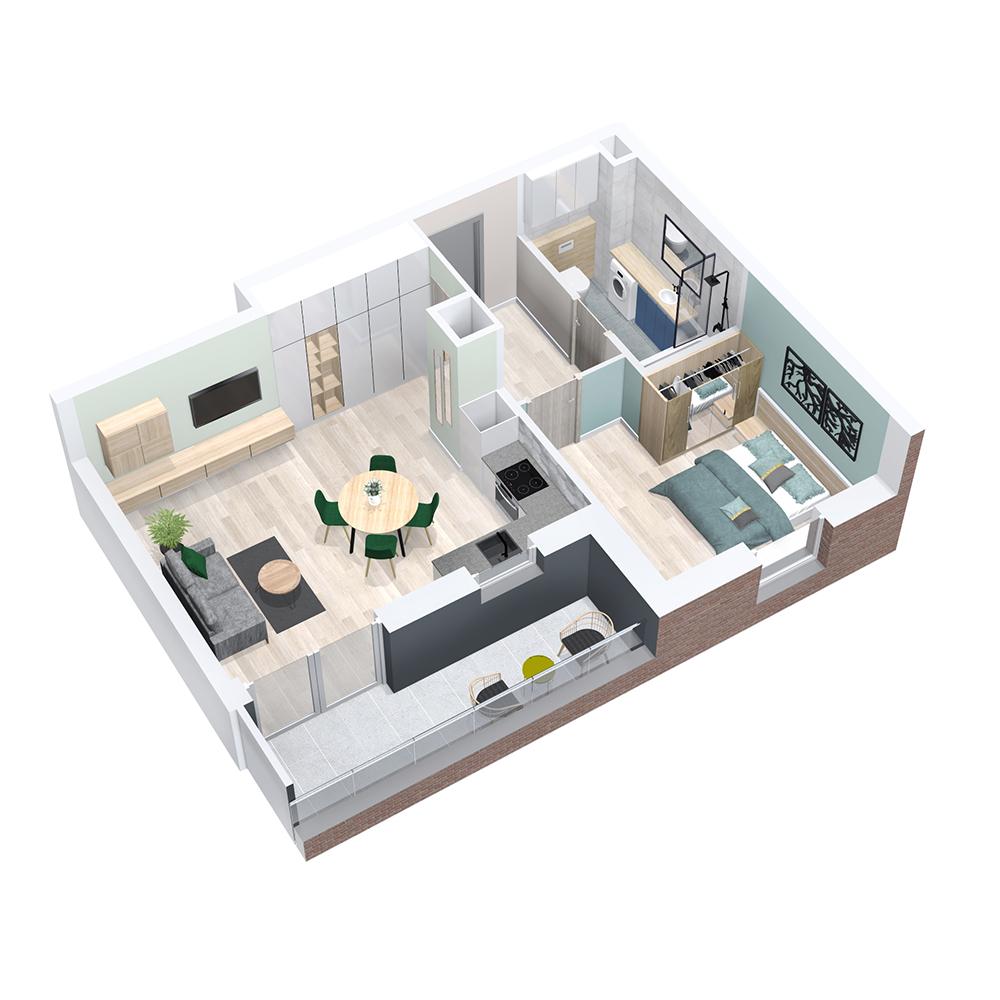 Mieszkanie 3-pokojowe PP-8C-103