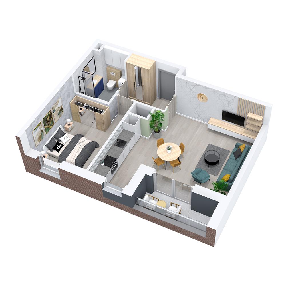 Mieszkanie 2-pokojowe PP-8C-49