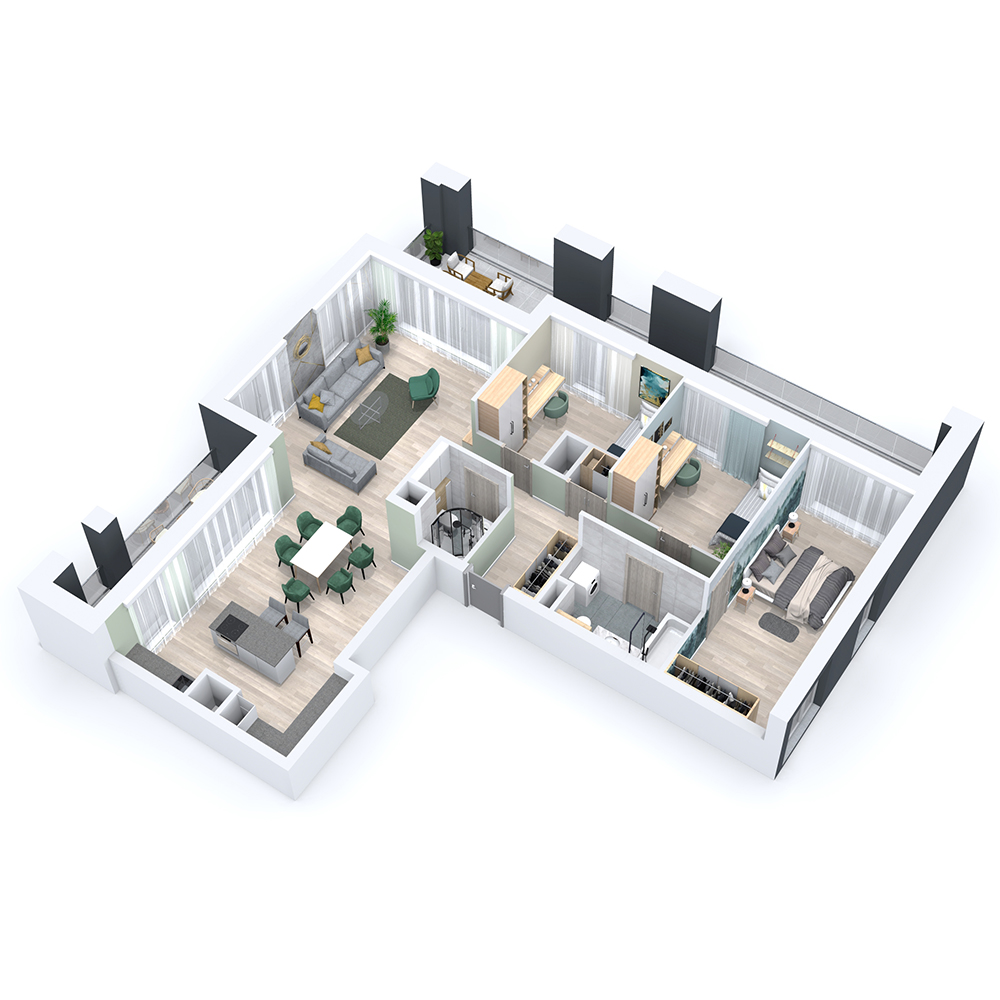 Mieszkanie 4-pokojowe PP-8C-31
