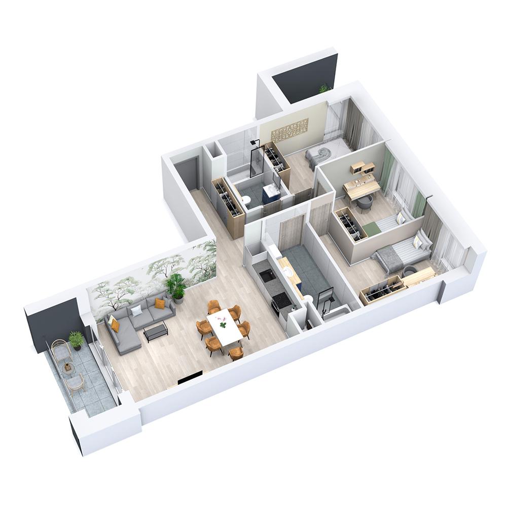 Mieszkanie 4-pokojowe PP-8C-13