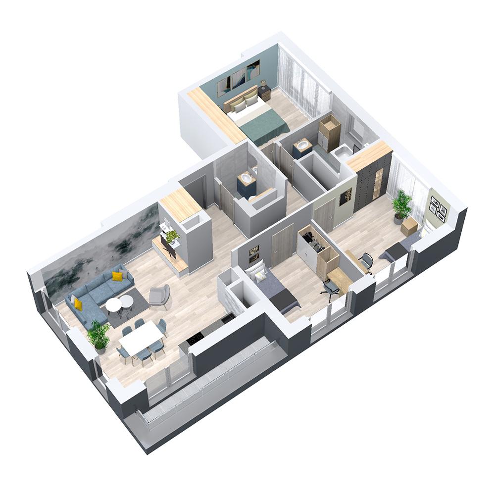 Mieszkanie 4-pokojowe PP-8D-67