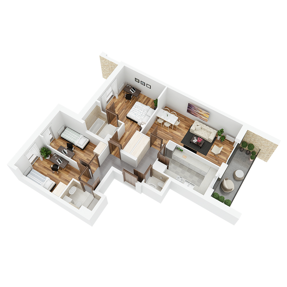 Mieszkanie 4-pokojowe PP-26-45