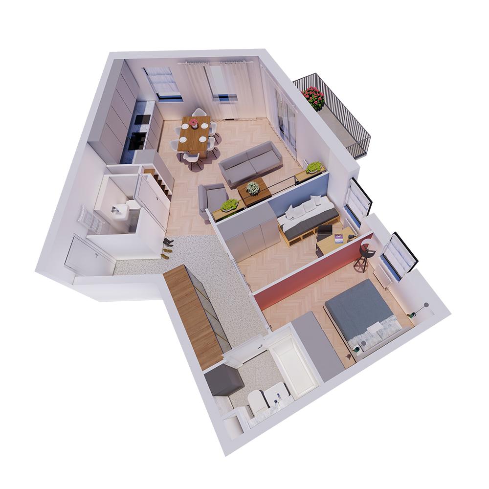 Mieszkanie 3-pokojowe R-A-6