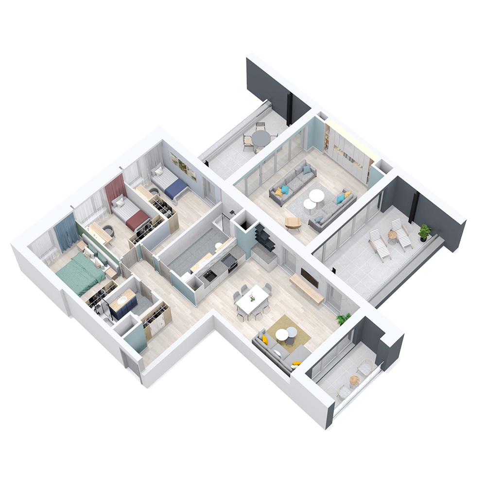 Mieszkanie 4-pokojowe PP-8C-22