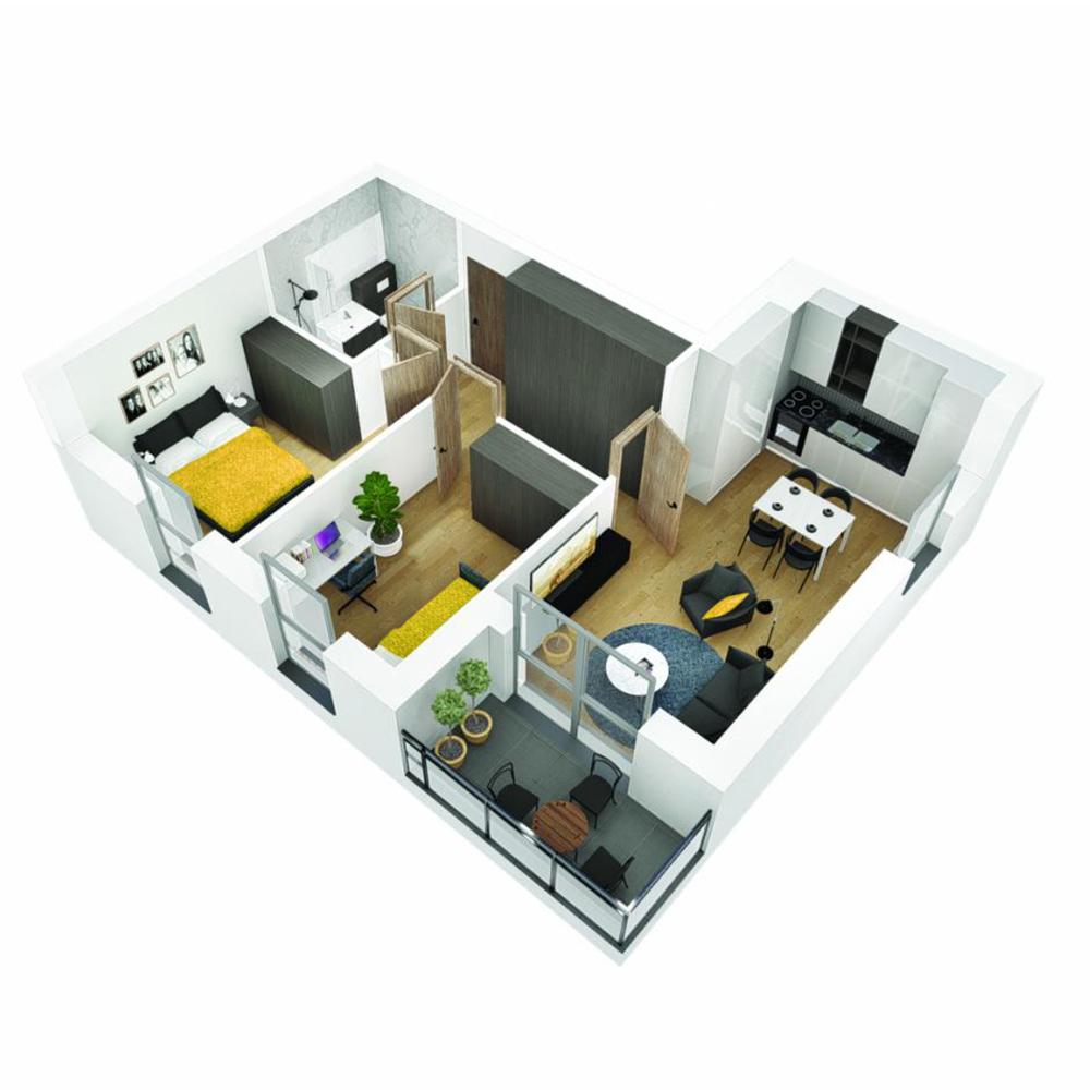 Mieszkanie 3-pokojowe OU-6-12