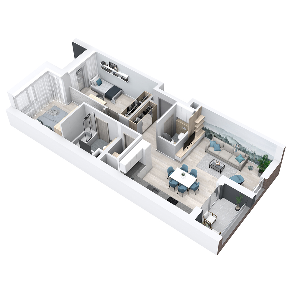 Mieszkanie 3-pokojowe PP-8B-1