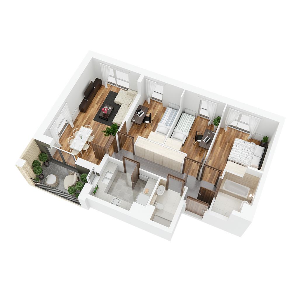 Mieszkanie 4-pokojowe PP-26-87