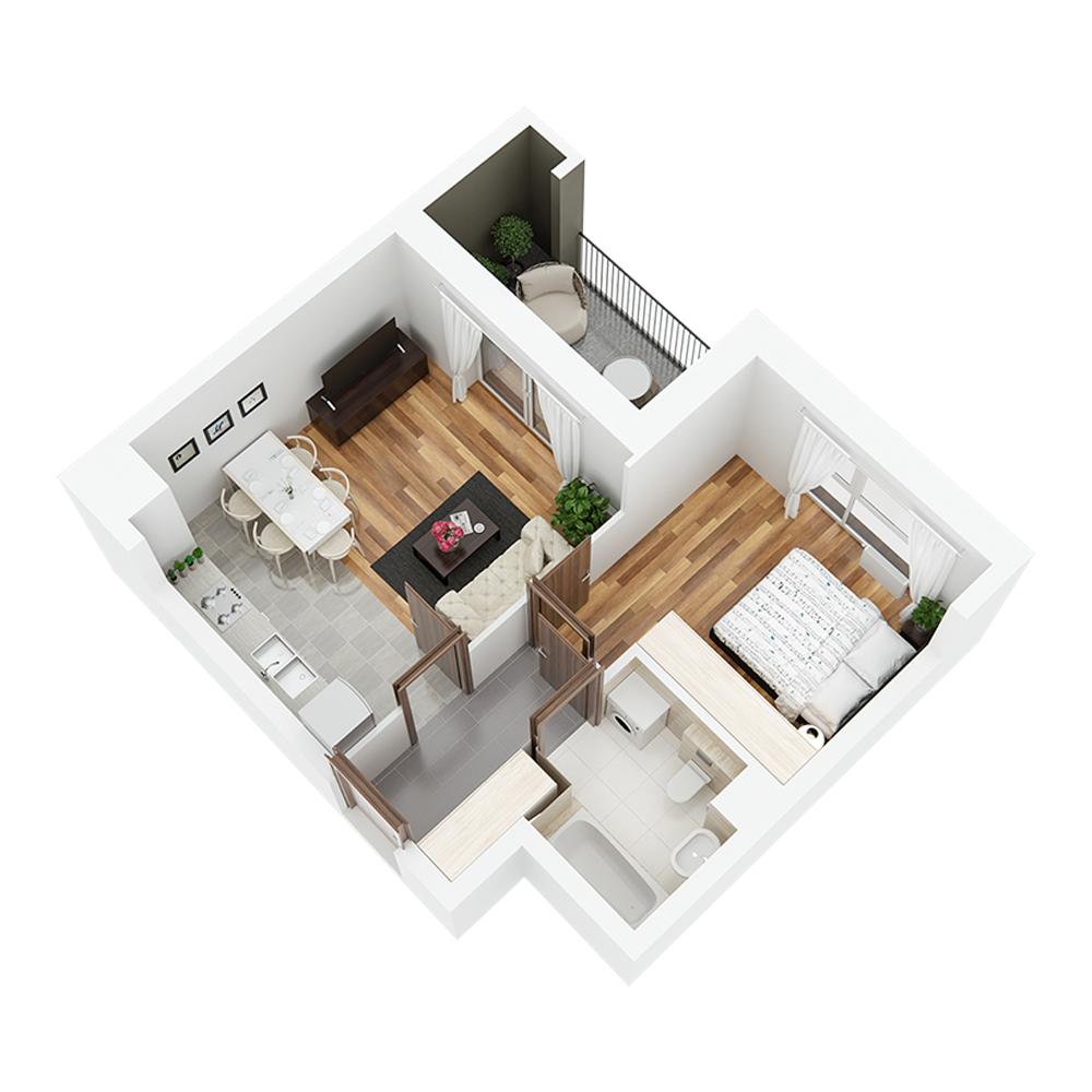 Mieszkanie 2-pokojowe PP-24-33