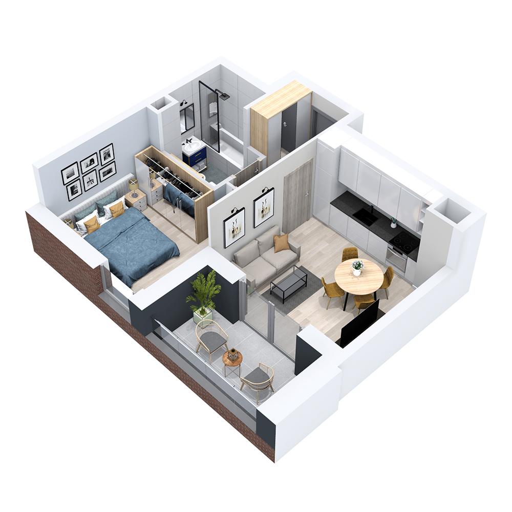 Mieszkanie 2-pokojowe PP-8B-2