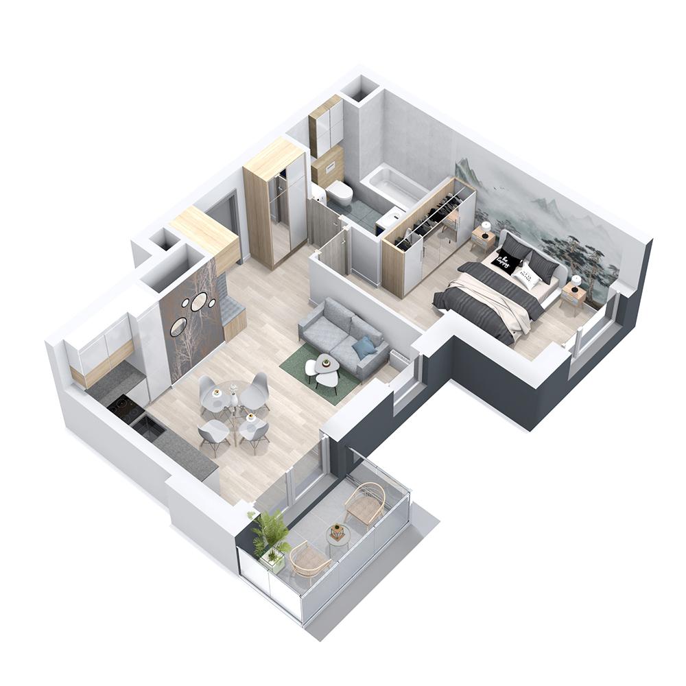 Mieszkanie 2-pokojowe PP-8B-47