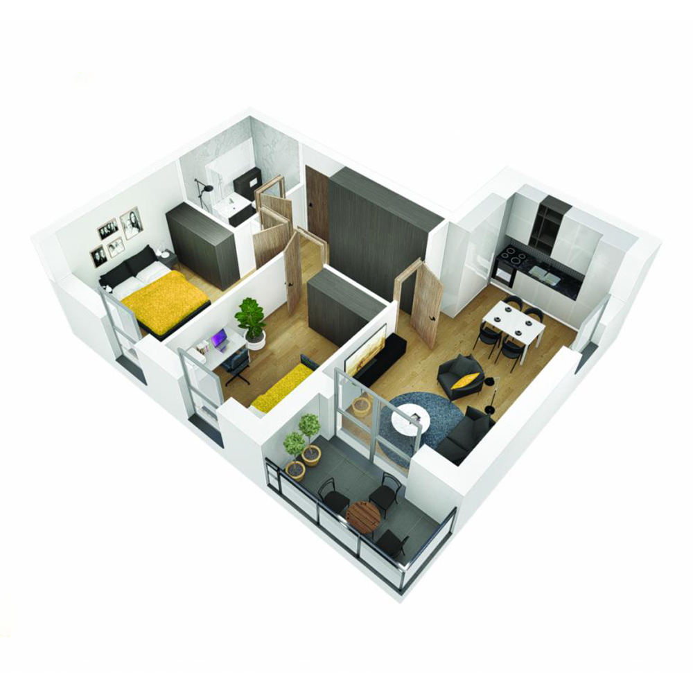 Mieszkanie 3-pokojowe OU-4-12