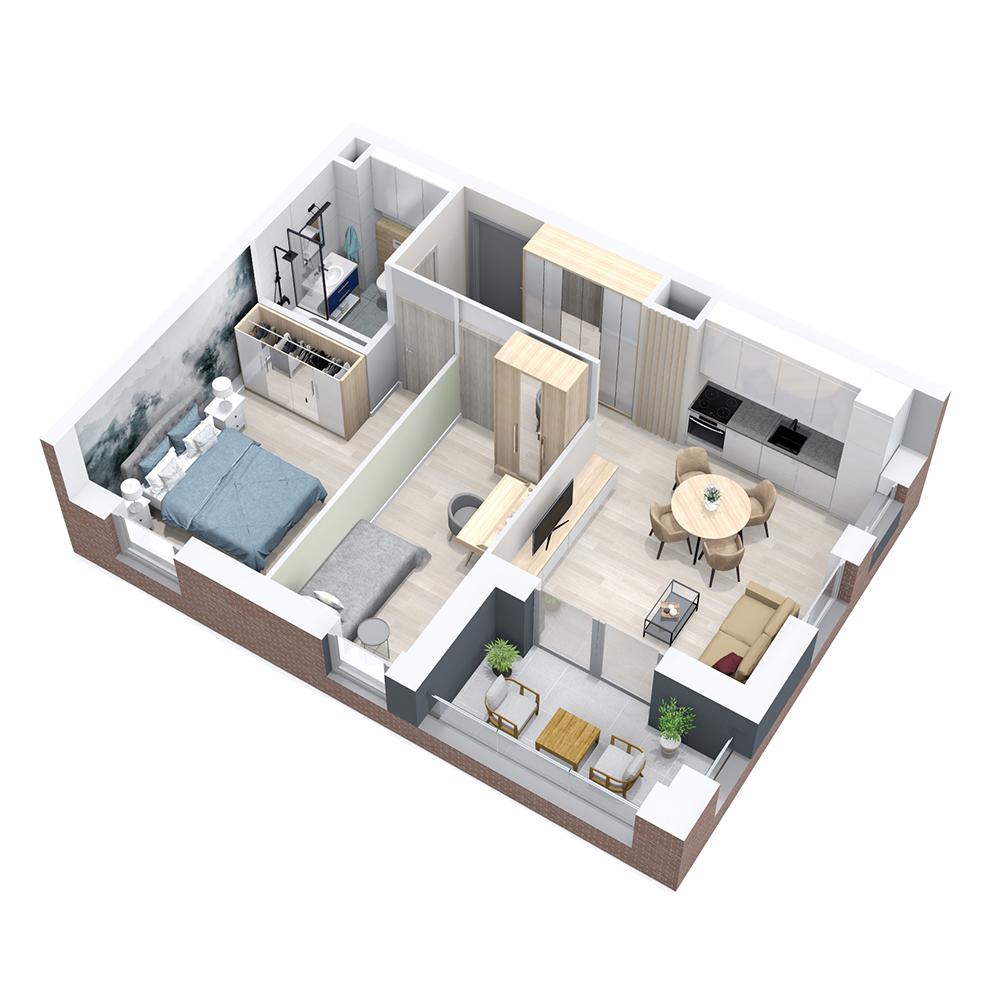 Mieszkanie 3-pokojowe PP-8B-3