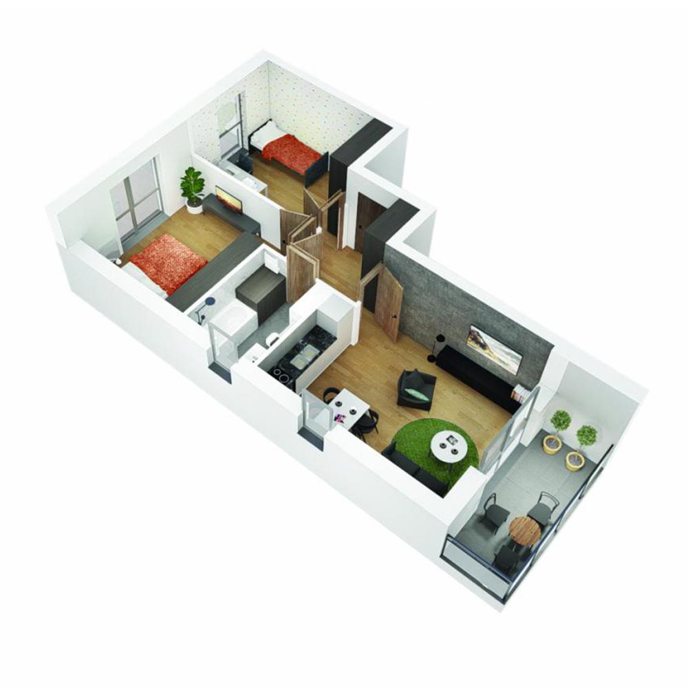 Mieszkanie 3-pokojowe OU-4-34