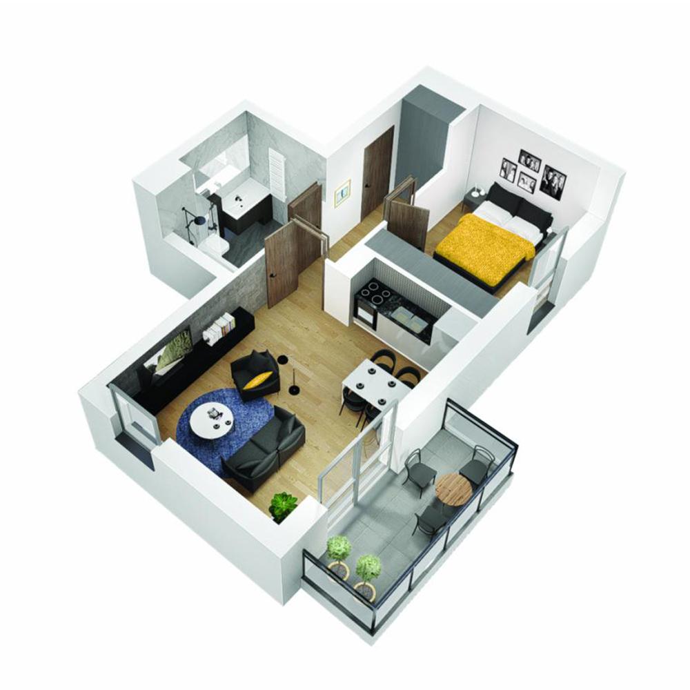 Mieszkanie 2-pokojowe OU-6-1