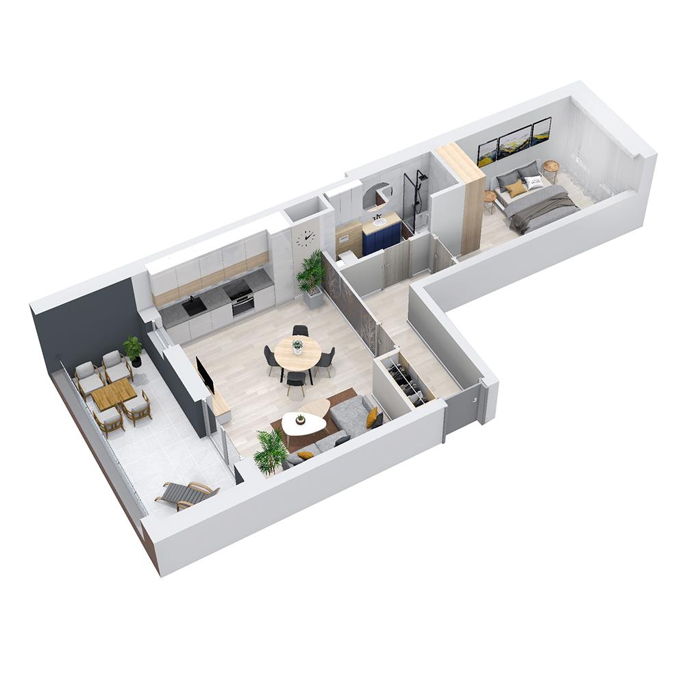Mieszkanie 2-pokojowe PP-8C-65