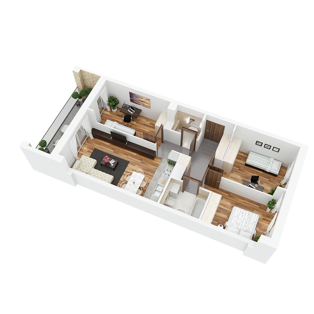 Mieszkanie 4-pokojowe PP-26-88