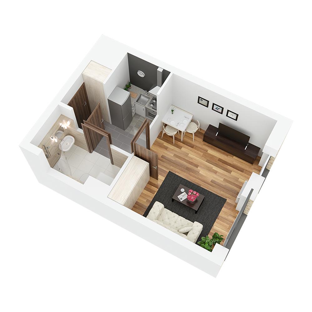 Mieszkanie 1-pokojowe PP-24-36