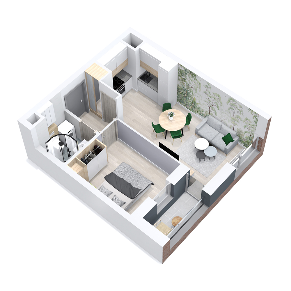 Mieszkanie 2-pokojowe PP-8B-26