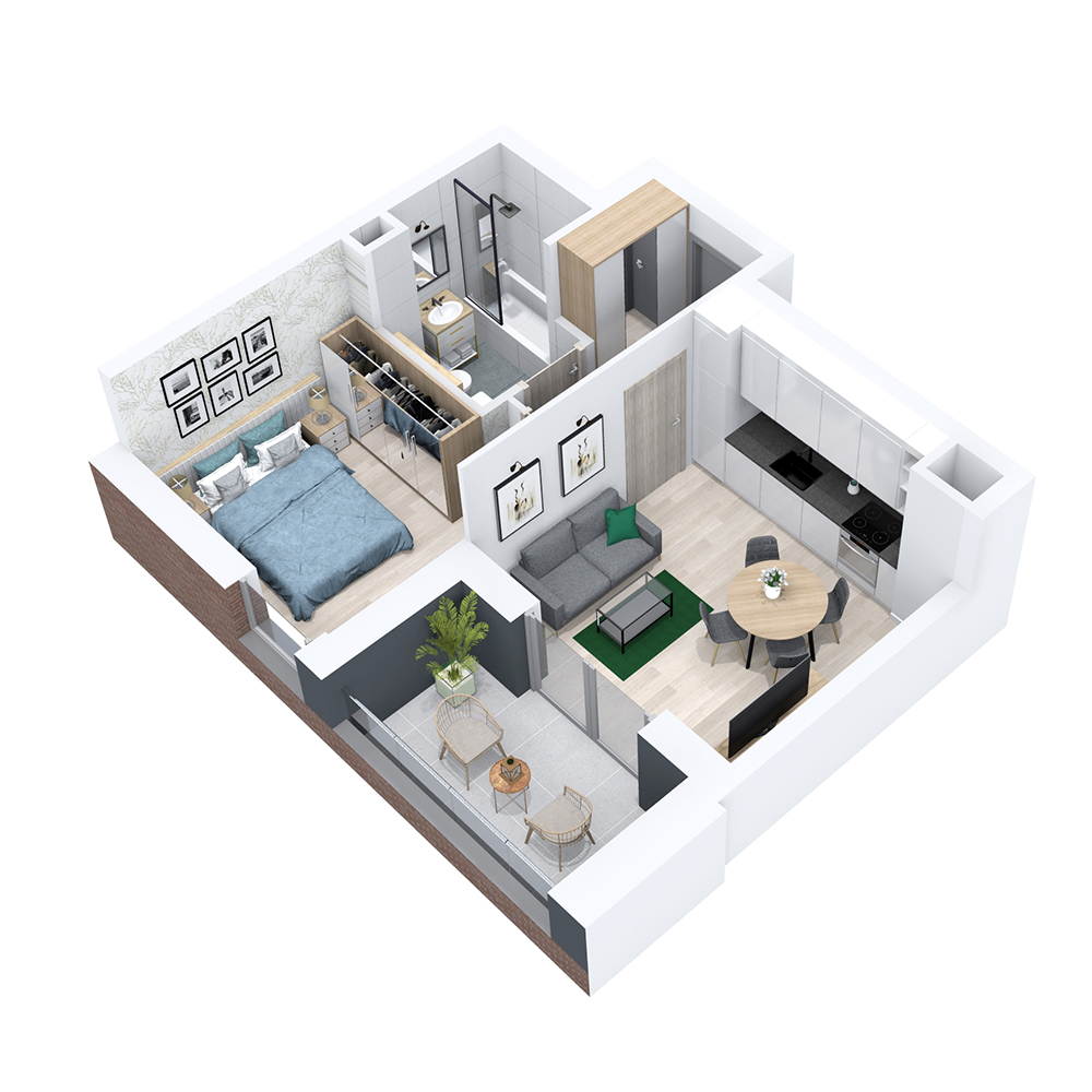 Mieszkanie 2-pokojowe PP-8B-42