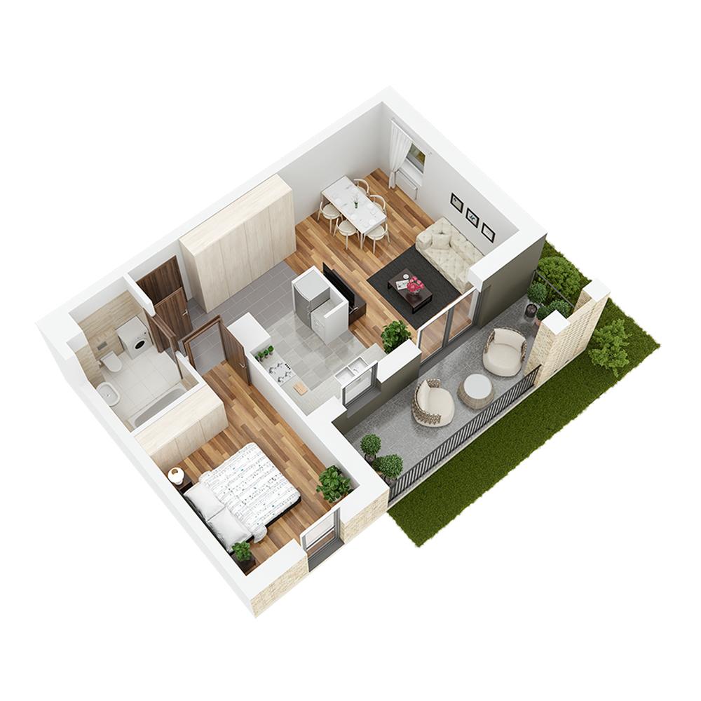 Mieszkanie 2-pokojowe PP-24-3