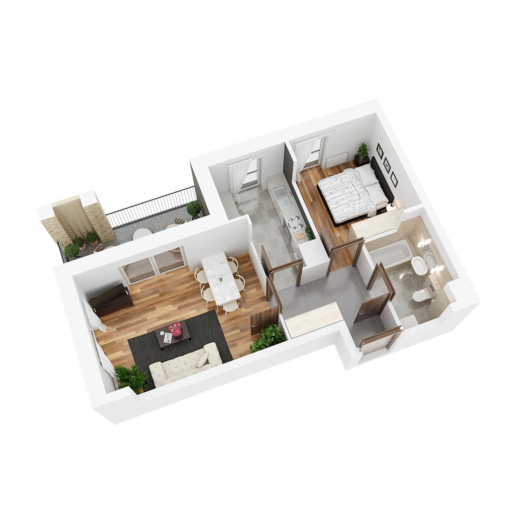 Mieszkanie 2-pokojowe PP-24-22