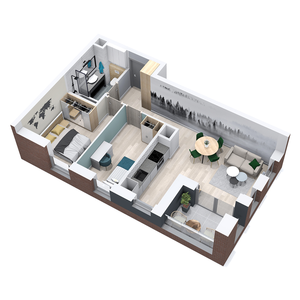 Mieszkanie 3-pokojowe PP-8B-9
