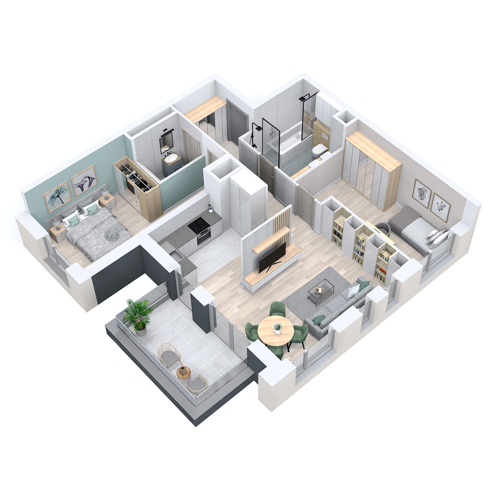 Mieszkanie 3-pokojowe PP-8D-1