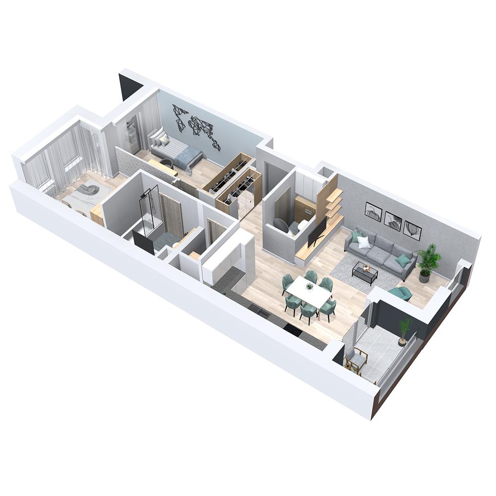 Mieszkanie 3-pokojowe PP-8B-5