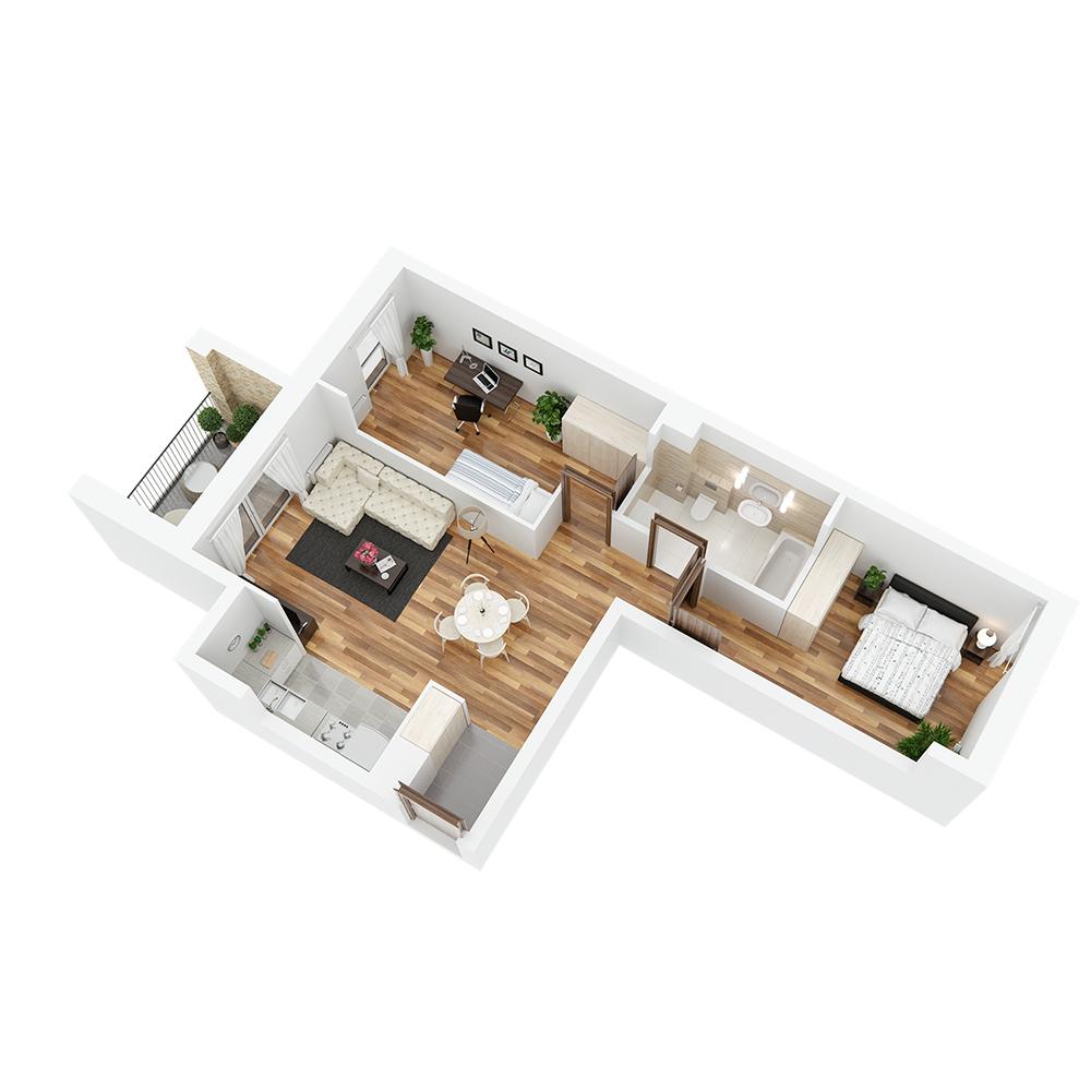 Mieszkanie 3-pokojowe PP-24-40