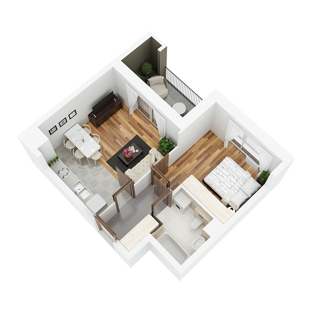 Mieszkanie 2-pokojowe PP-24-7