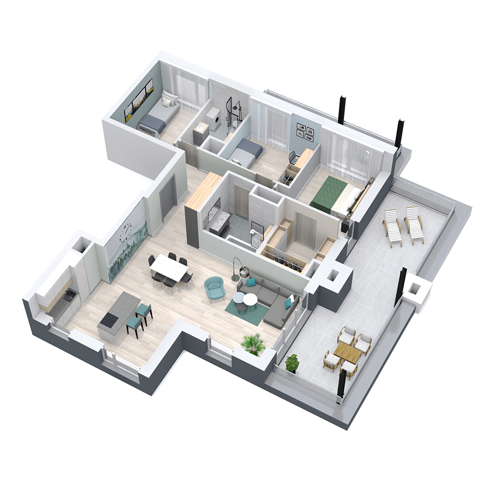 Mieszkanie 4-pokojowe PP-8C-89