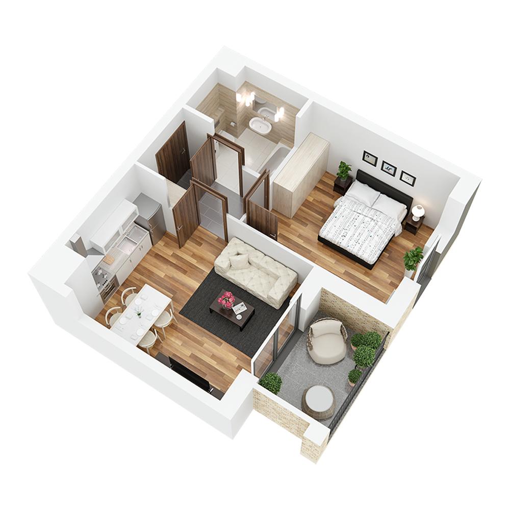 Mieszkanie 2-pokojowe PP-26-17