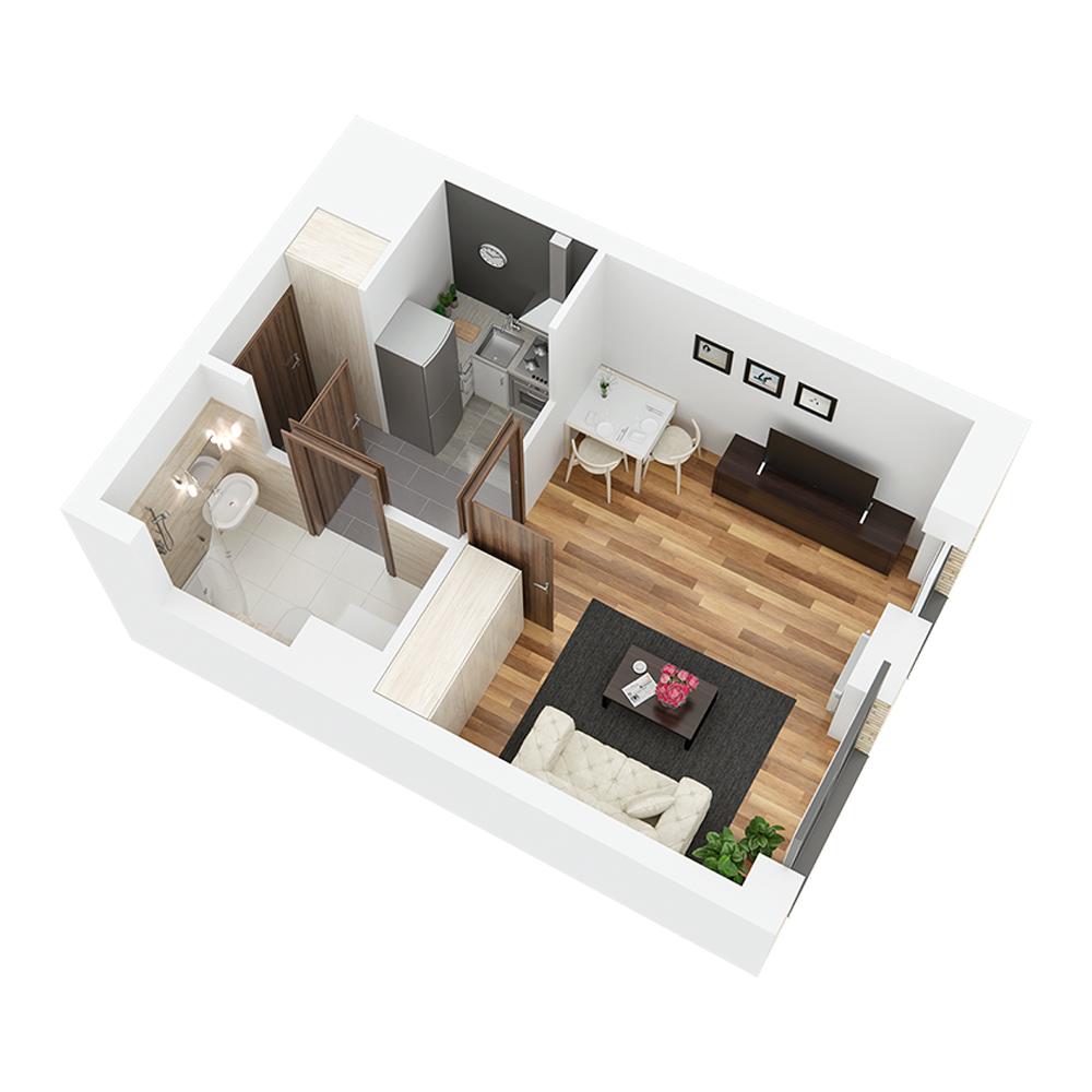 Mieszkanie 1-pokojowe PP-24-30