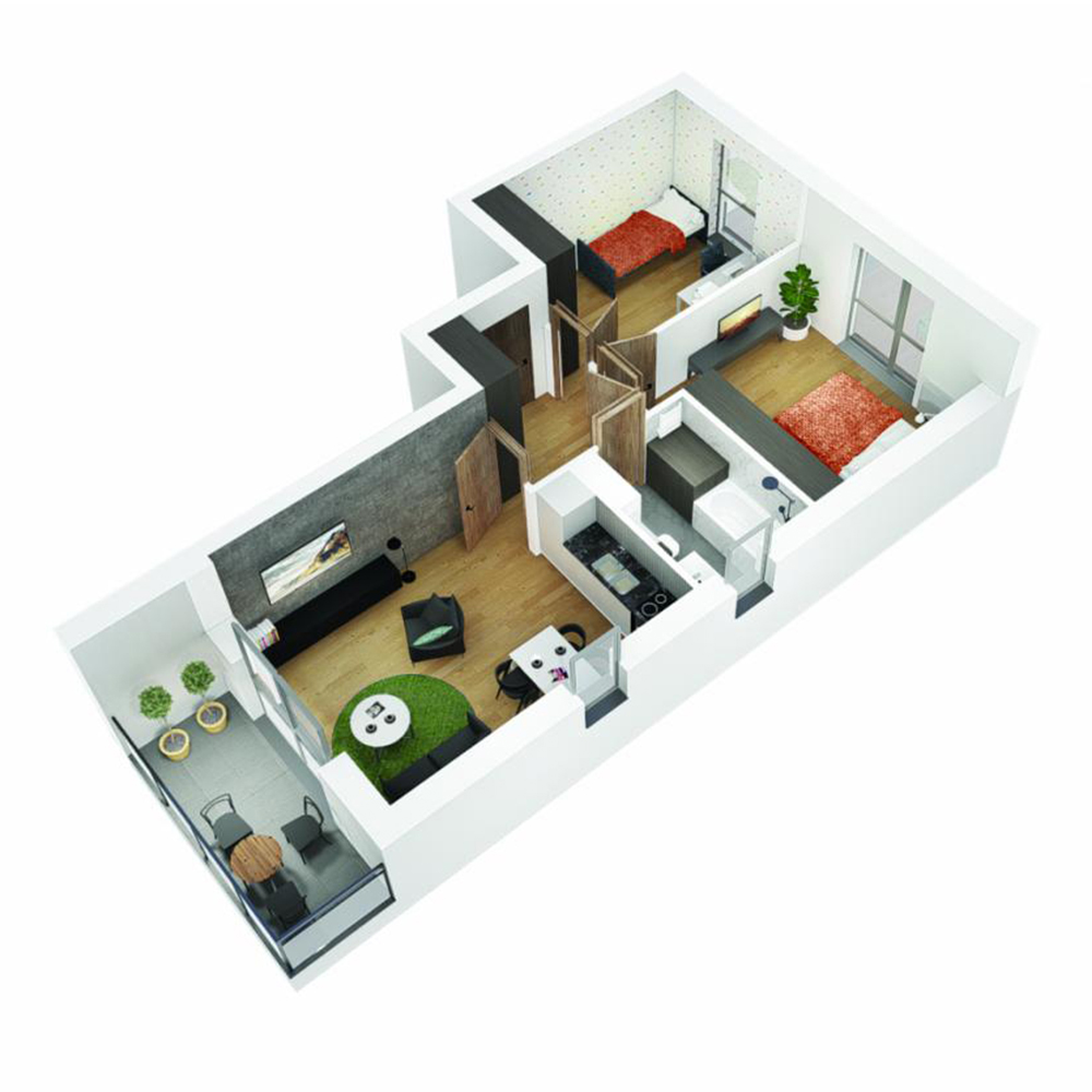 Mieszkanie 3-pokojowe OU-5-13